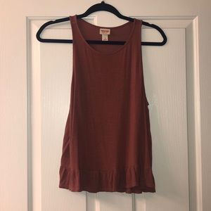 Rustic colored flowy tank top